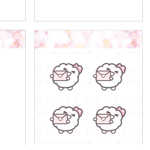 Happy mail 2.0 ♡ Cotton Planner Stickers