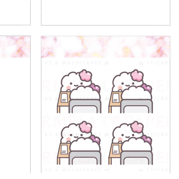 Meeting ♡ Cotton Planner Stickers