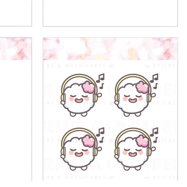 Music ♡ Cotton Planner Stickers