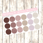 "Muted 2019 Vol. 2, Mood Palette [Plain] - 0.5"" diameter, 2 sheets"