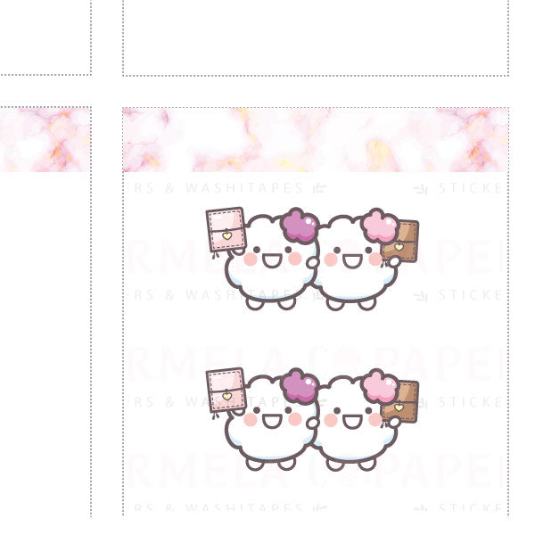 Planner buddies ♡ Cotton Planner Stickers