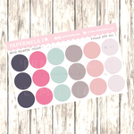 "Preppy 2019 Vol. 1, Mood Palette [Plain] - 0.5"" diameter, 2 sheets"