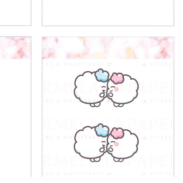 Puffy Hug ♡ Cotton Planner Stickers