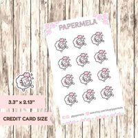 Tan | Beach time ♡ Cotton Planner Stickers