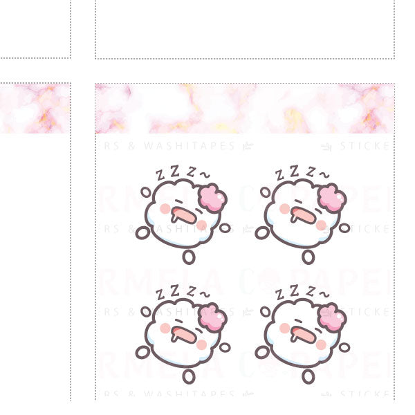 Sleep ♡ Cotton Planner Stickers