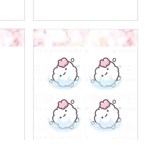 Swimming ♡ Cotton Planner Stickers