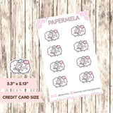 Love time ♡ Cotton Planner Stickers