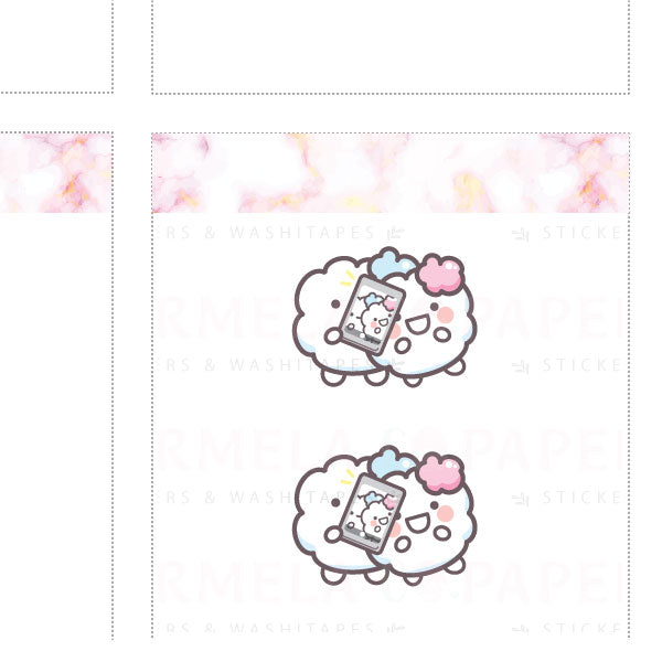 Two-fie ♡ Cotton Planner Stickers