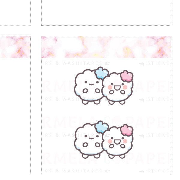 Two-gether ♡ Cotton Planner Stickers