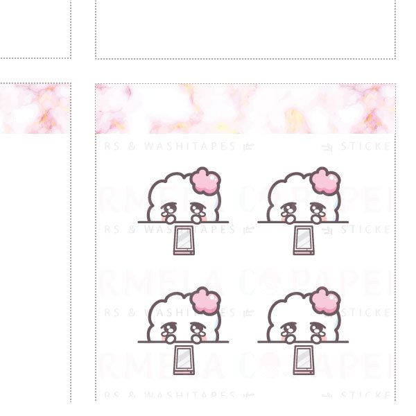 Waiting for reply ♡ Cotton Planner Stickers