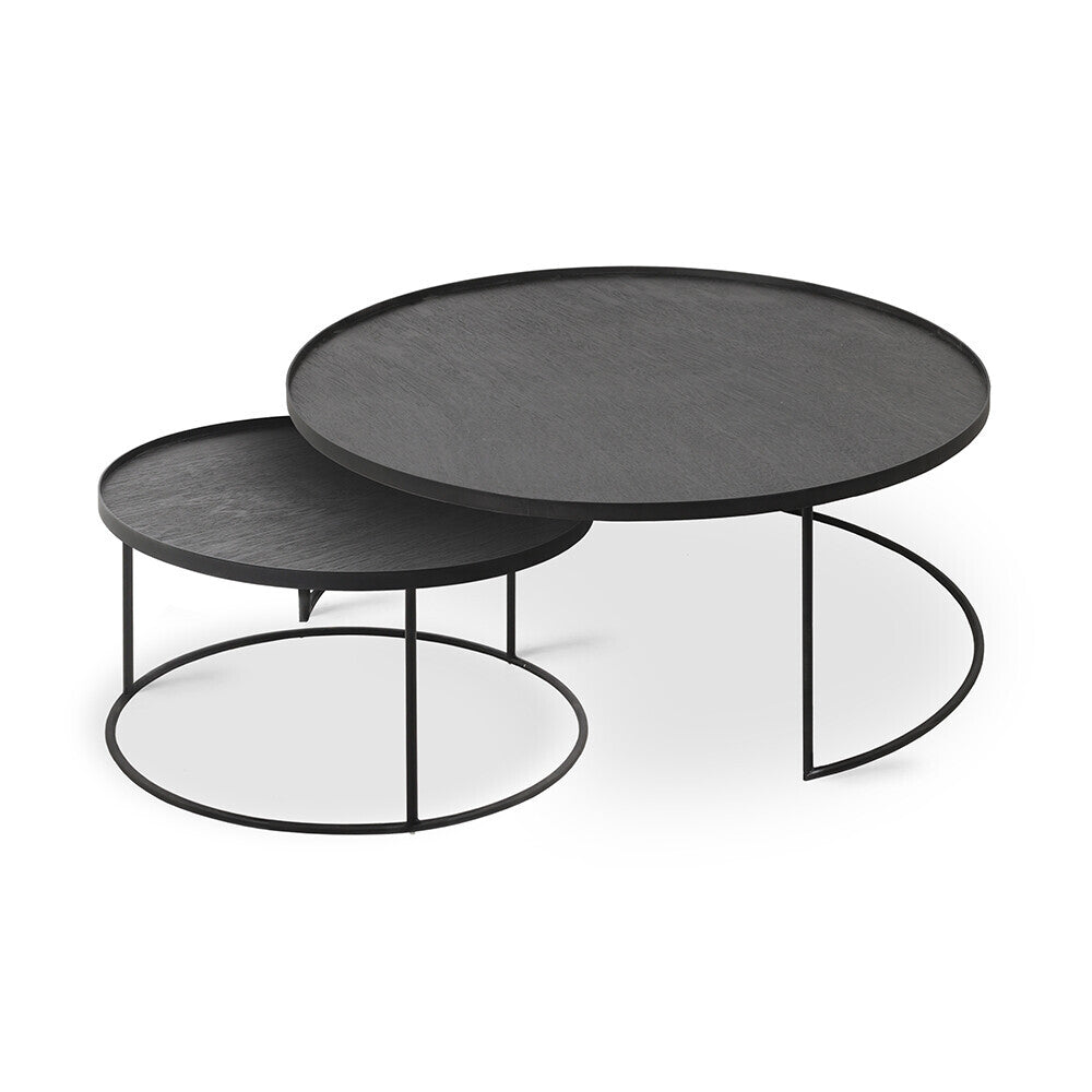 ROUND TRAY SET DE TABLES BASSES L/XL