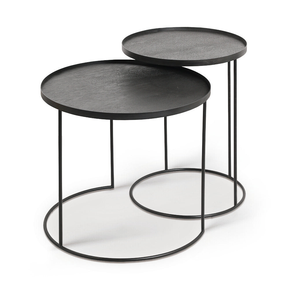 ROUND TRAY SET DE TABLES D'APPOINT