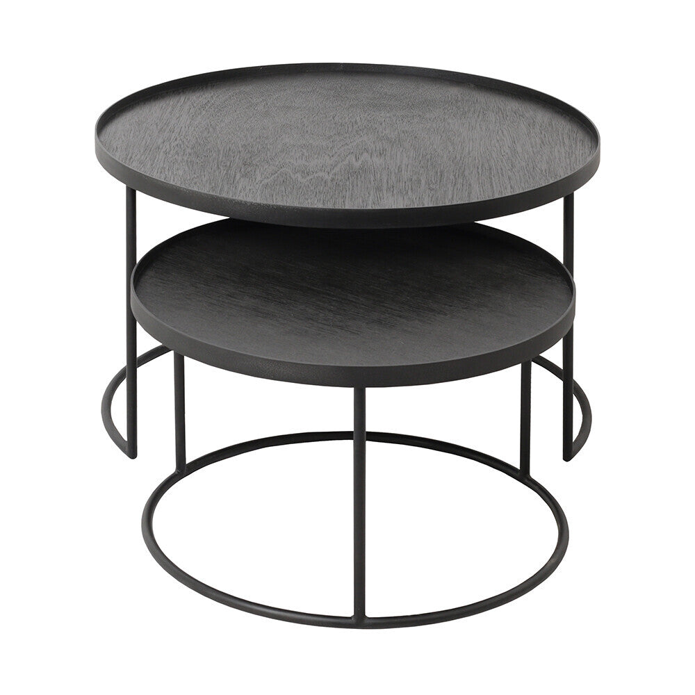 ROUND TRAY SET DE TABLES BASSES S/L