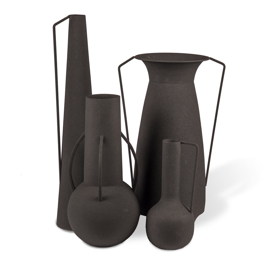 VASES ROMAN BLACK / SET DE 4