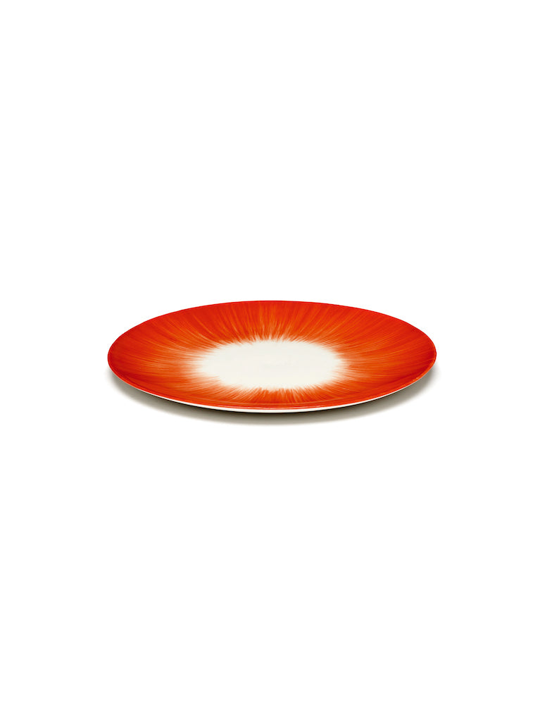 SET 2 ASSIETTES DÉ OFF-WHITE/RED - D17,5