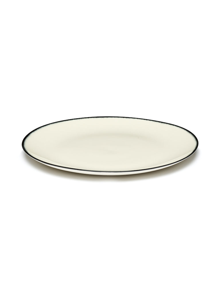 SET 2 ASSIETTES DÉ OFF-WHITE/BLACK - D24
