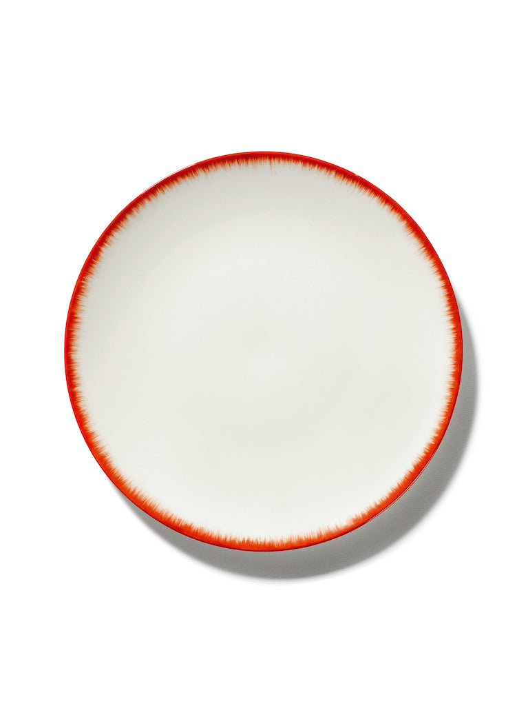 SET 2 ASSIETTES DÉ OFF-WHITE/RED - D24