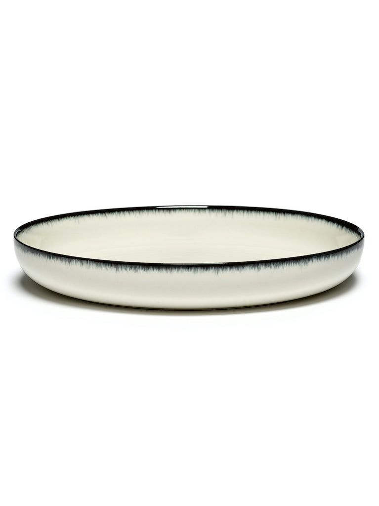 SET 2 ASSIETTES HAUTE DÉ OFF-WHITE/BLACK - D27