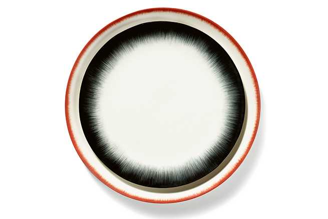 SET 2 ASSIETTES DÉ OFF-WHITE/RED - D28