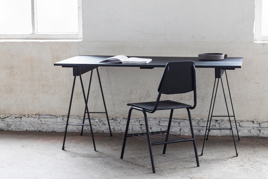 TABLE STUDIO SIMPLE NOIR 180 X 75