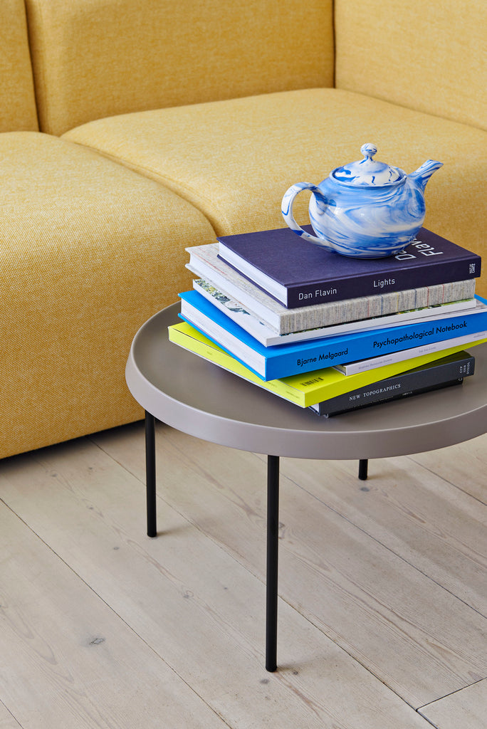 TULOU COFFEE TABLE / BLACK POWDER COATED STEEL / MOCCA POWDER COATED STEEL / Ø55 X H35