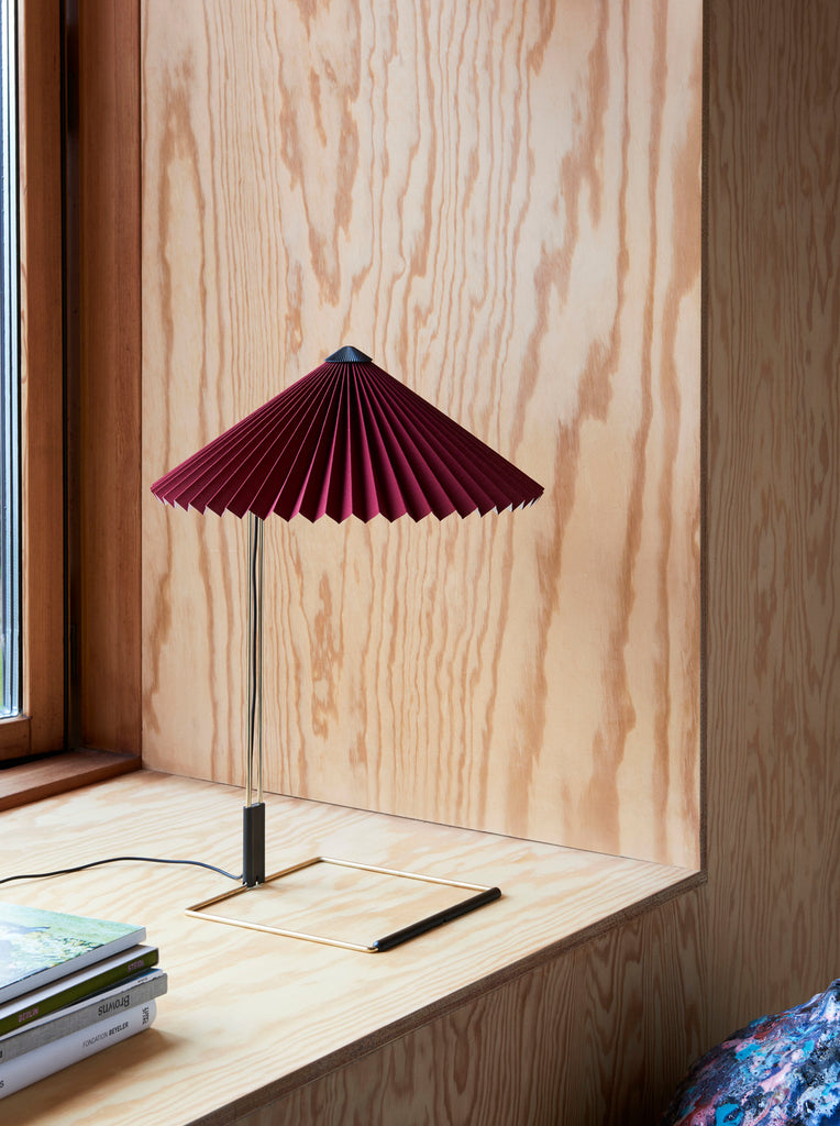 MATIN TABLE LAMP / Ø380 OXYDE RED