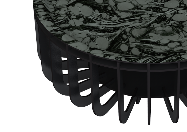 "TABLE BASSE ""MEDUSA XL GRISE"" 