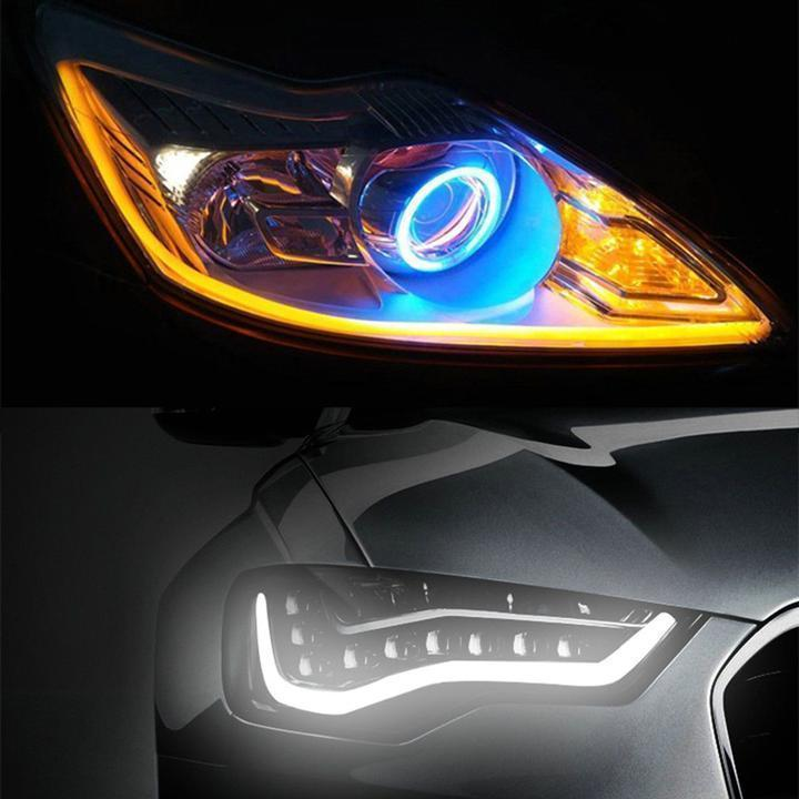 (Independence Day Promotion!!! 60% off) - Flexible DRL LED Night & Daytime Running Light Strip (No Disassembling Needed) - yanczi