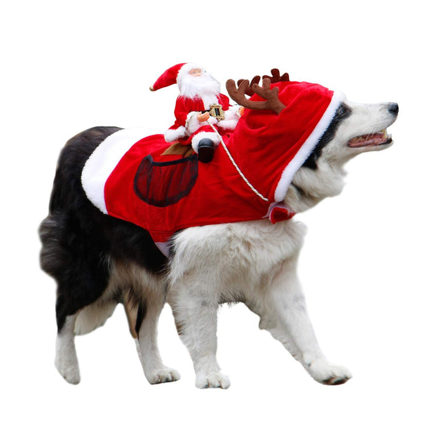 (BUY 2 GET FREE SHIPPING) Royal Wise Running Santa Christmas Pet Costumes