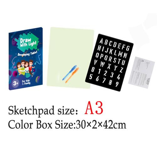 New 2019 Magic illuminate Educational Drawing Board for Kids Paint Lighting Toy.  ❤️