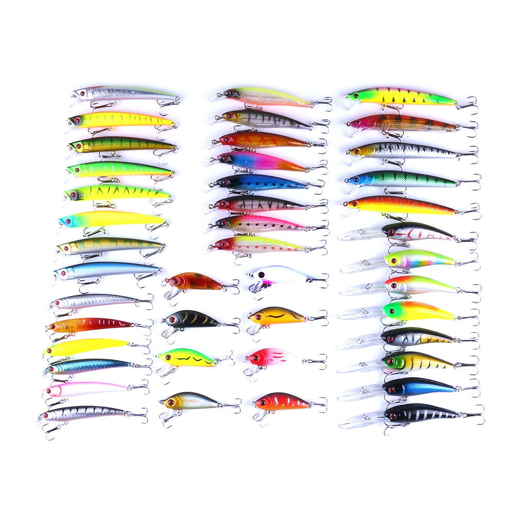 43 PIECES MINNOW BAIT SEAT MIX FISHING LURES COMBO COLORFUL