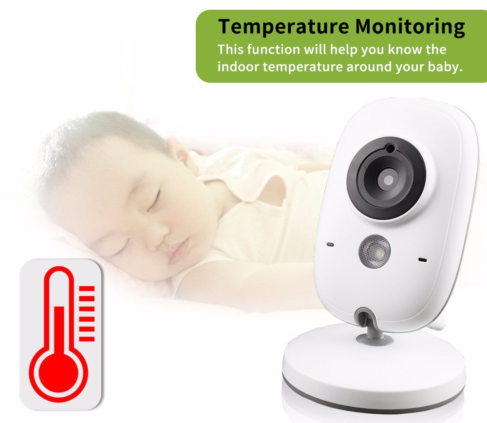 Amazing Camera monitoring night vision temperature with 3.2 Inches, wireless and high resolution baby baba, with lullabies ..