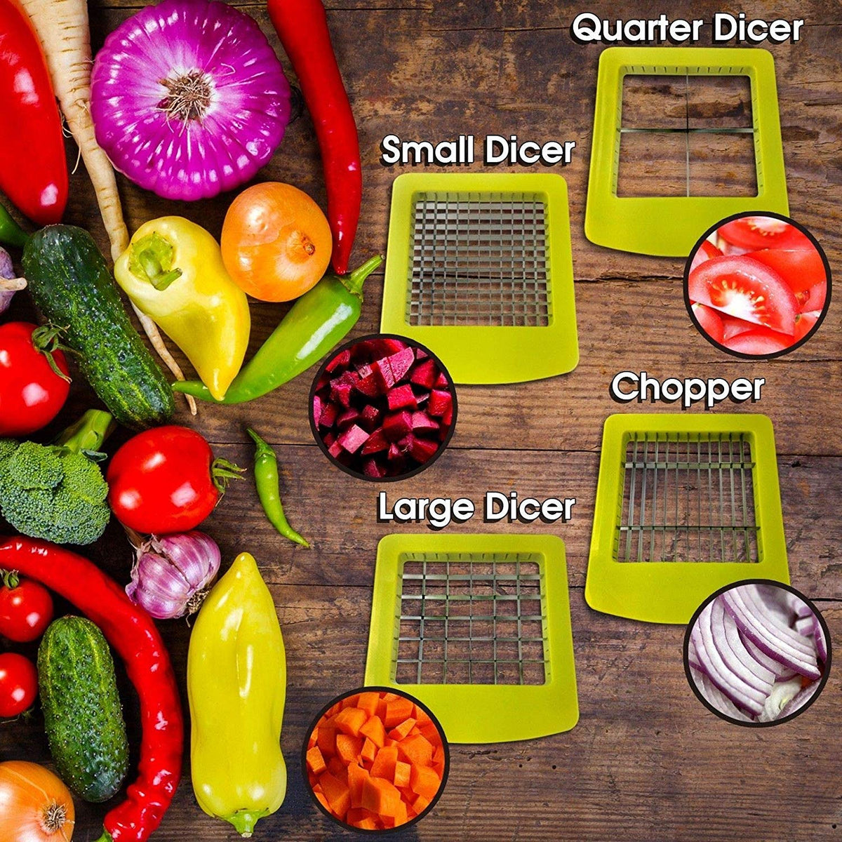 SMART CHEF 12 IN 1MULTIFUNCIONAL DICER AND SLICER  - 50% OFF