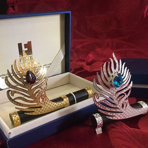 Peacock Feather Incense Holder