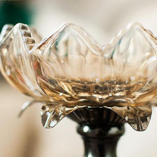 Lotus Crystal Candlestick Set