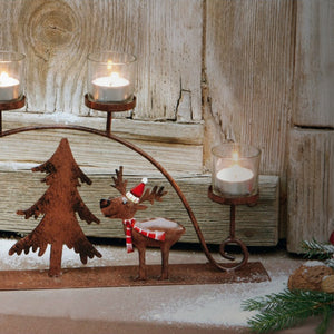 Christmasy Candle Holder Set