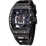 Men's Watch Skull Watches 30M Waterproof Wrist Watches Night Luminous Quartz Watches Casual Hollow Watch