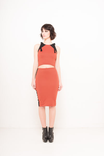 Broken Line Pencil Skirt