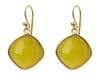 Yellow Citrine Square Danglers