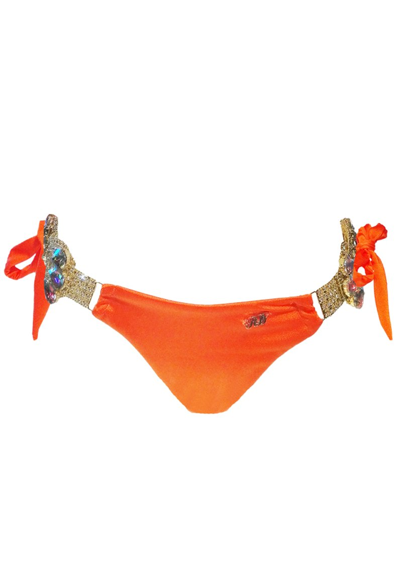 Amber Tie Side Bottom - Orange