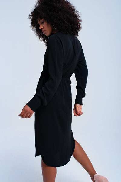 Black Midi Dress With Laces