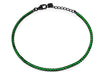 Mini Ambition Green Cz Tennis Bracelet  Midnight Black Sterling Silver