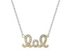 Sparkling Lol Necklace (Rose Gold Plated)