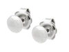 Sterling Silver Flat Ball Stud Earrings 6 Mm Mirror Finish