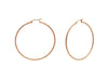 Rose Diamante Cut Hoops (40Mm)