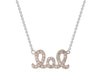 Sparkling Lol Necklace (Gold Plated)