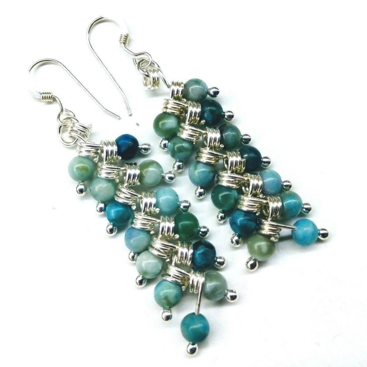 As Seen On Tv Jane The Virgin Sterling Silver Turquoise Wire Wrapped Earrings
