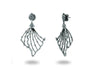 Sparkling Baguette Midnight Angel Wings Earrings