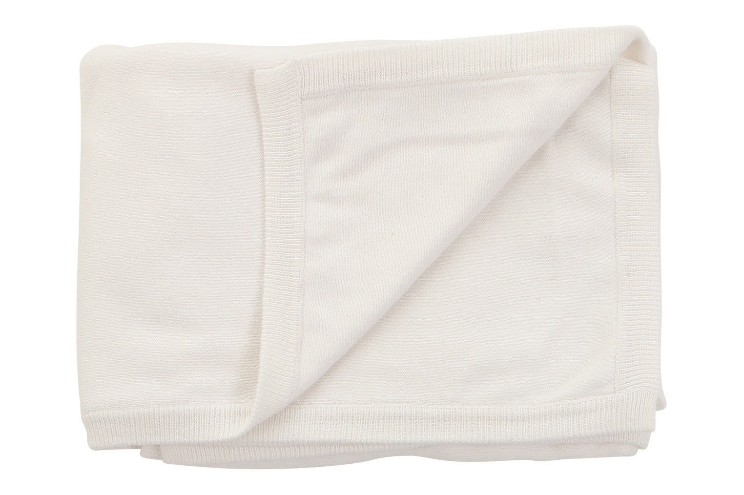 Cotton Cashmere White Blanket