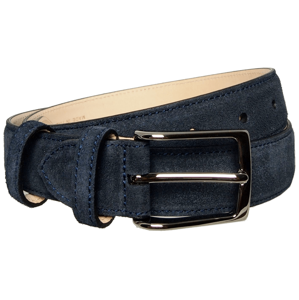 30 Mm Sartorial Suede Belt Navy